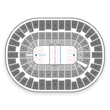 New York Islanders at Nassau Coliseum Section 302 View