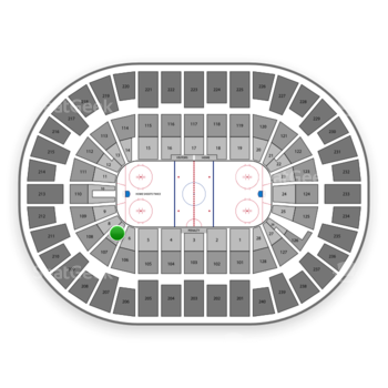 New York Islanders at Nassau Coliseum Section 7 View