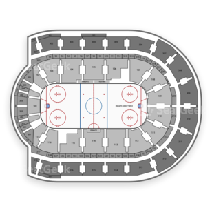 NHL Rookie Tournament Seating Chart