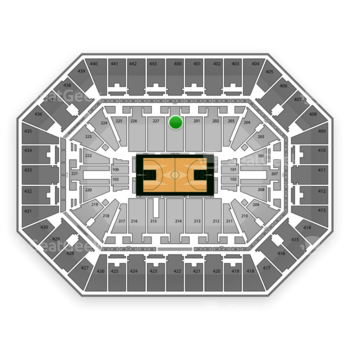 Milwaukee Bucks at BMO Harris Bradley Center Section 200 View