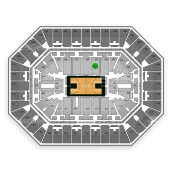 Milwaukee Bucks at BMO Harris Bradley Center Section 201 View
