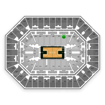 Milwaukee Bucks at BMO Harris Bradley Center Section 202 View