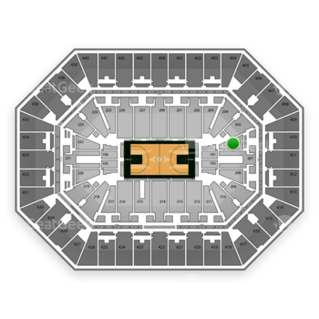 Milwaukee Bucks at BMO Harris Bradley Center Section 206 View