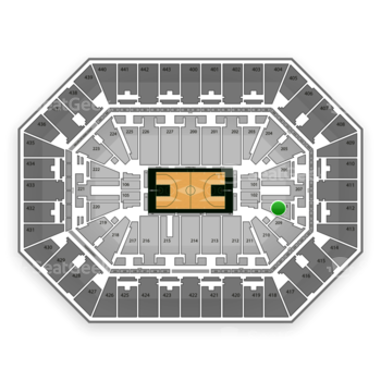 Milwaukee Bucks at BMO Harris Bradley Center Section 208 View