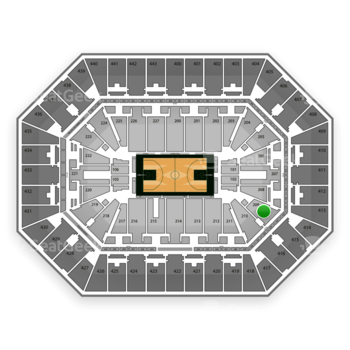 Milwaukee Bucks at BMO Harris Bradley Center Section 209 View