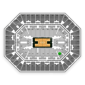 Milwaukee Bucks at BMO Harris Bradley Center Section 210 View
