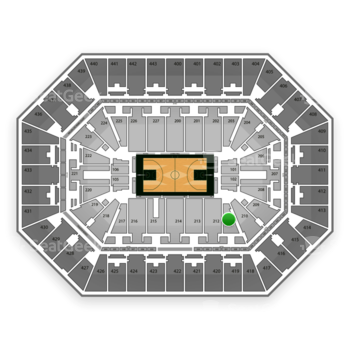 Milwaukee Bucks at BMO Harris Bradley Center Section 211 View