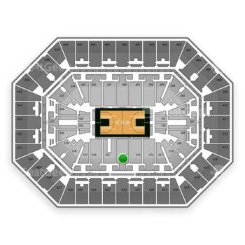 Milwaukee Bucks at BMO Harris Bradley Center Section 214 View
