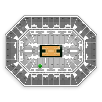 Milwaukee Bucks at BMO Harris Bradley Center Section 216 View