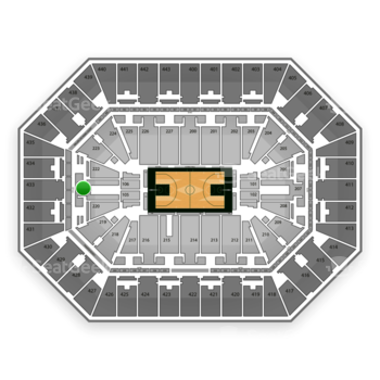 Milwaukee Bucks at BMO Harris Bradley Center Section 221 View