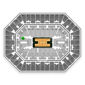 Milwaukee Bucks at BMO Harris Bradley Center Section 222 View