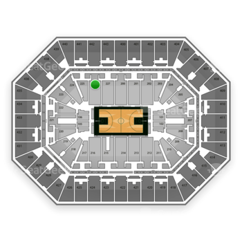 Milwaukee Bucks at BMO Harris Bradley Center Section 226 View