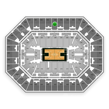 Milwaukee Bucks at BMO Harris Bradley Center Section 400 View