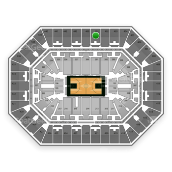 Milwaukee Bucks at BMO Harris Bradley Center Section 401 View