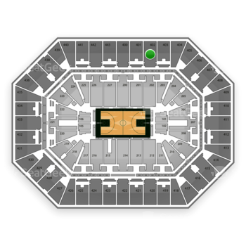 Milwaukee Bucks at BMO Harris Bradley Center Section 402 View
