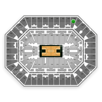 Milwaukee Bucks at BMO Harris Bradley Center Section 404 View