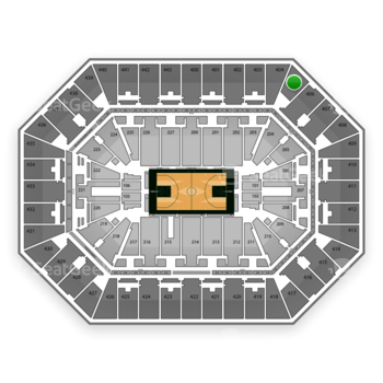Milwaukee Bucks at BMO Harris Bradley Center Section 405 View