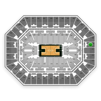 Milwaukee Bucks at BMO Harris Bradley Center Section 410 View