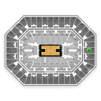 Milwaukee Bucks at BMO Harris Bradley Center Section 411 View