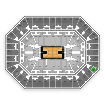 Milwaukee Bucks at BMO Harris Bradley Center Section 414 View