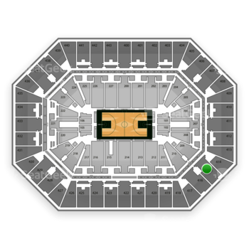 Milwaukee Bucks at BMO Harris Bradley Center Section 415 View