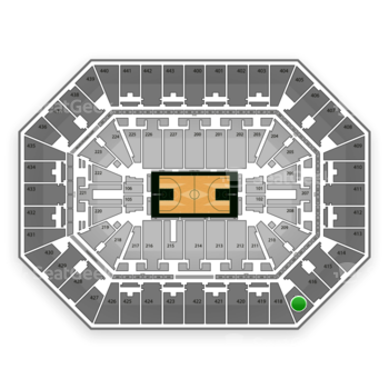 Milwaukee Bucks at BMO Harris Bradley Center Section 417 View