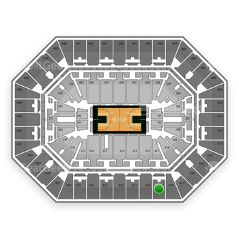 Milwaukee Bucks at BMO Harris Bradley Center Section 419 View