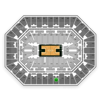 Milwaukee Bucks at BMO Harris Bradley Center Section 421 View