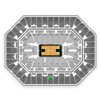 Milwaukee Bucks at BMO Harris Bradley Center Section 422 View