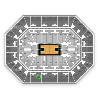 Milwaukee Bucks at BMO Harris Bradley Center Section 424 View