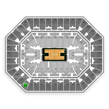 Milwaukee Bucks at BMO Harris Bradley Center Section 427 View