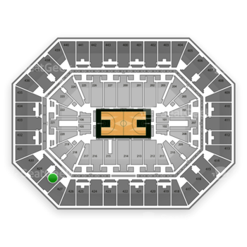 Milwaukee Bucks at BMO Harris Bradley Center Section 428 View