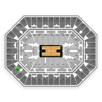 Milwaukee Bucks at BMO Harris Bradley Center Section 429 View