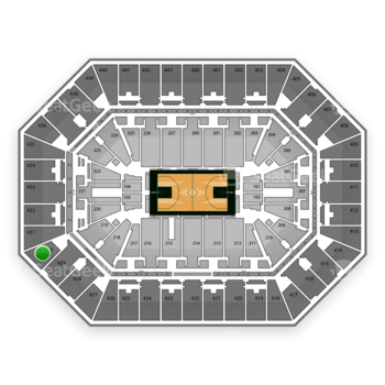 Milwaukee Bucks at BMO Harris Bradley Center Section 430 View