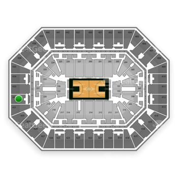Milwaukee Bucks at BMO Harris Bradley Center Section 432 View