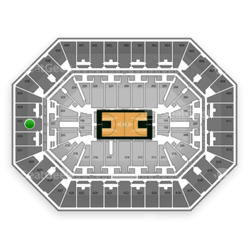 Milwaukee Bucks at BMO Harris Bradley Center Section 433 View