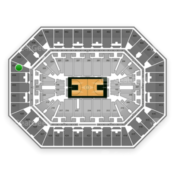 Milwaukee Bucks at BMO Harris Bradley Center Section 435 View