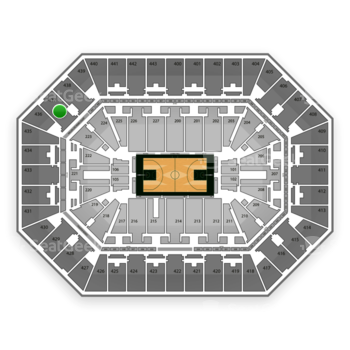 Milwaukee Bucks at BMO Harris Bradley Center Section 437 View
