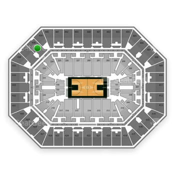 Milwaukee Bucks at BMO Harris Bradley Center Section 438 View