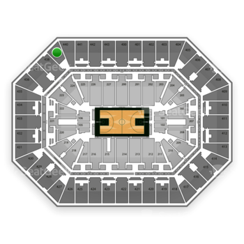 Milwaukee Bucks at BMO Harris Bradley Center Section 439 View