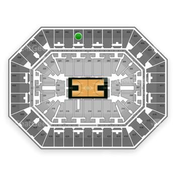 Milwaukee Bucks at BMO Harris Bradley Center Section 443 View