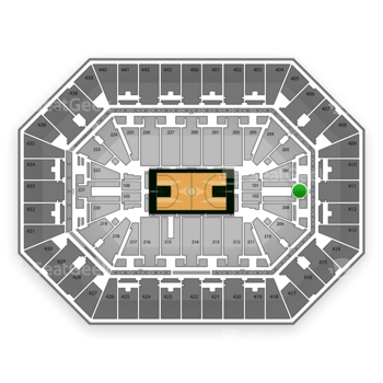 NBA at BMO Harris Bradley Center Section 207 View