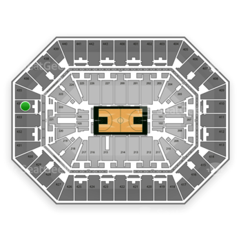 NBA at BMO Harris Bradley Center Section 434 View