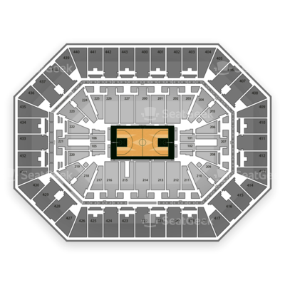 BMO Harris Bradley Center seating chart Milwaukee Bucks