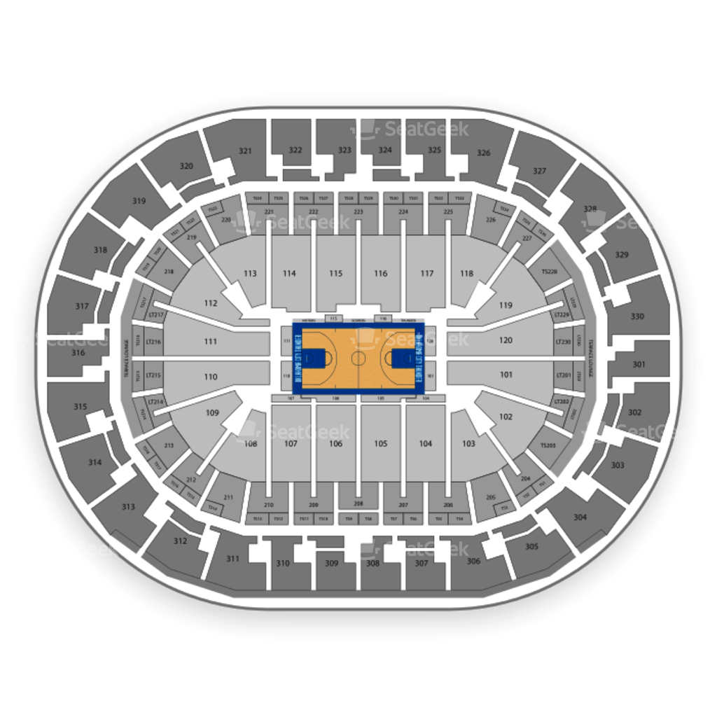 Oklahoma City Thunder Seating Chart Map Seatgeek