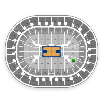 Oklahoma City Thunder at Chesapeake Energy Arena Section 102 View