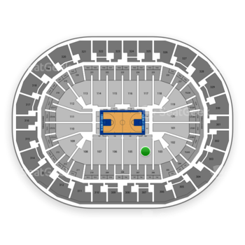 Oklahoma City Thunder at Chesapeake Energy Arena Section 104 View