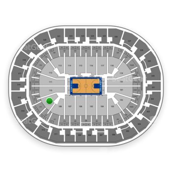 Oklahoma City Thunder at Chesapeake Energy Arena Section 109 View