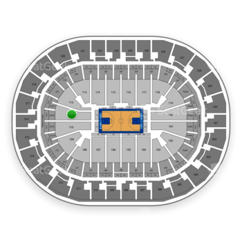 Oklahoma City Thunder at Chesapeake Energy Arena Section 111 View
