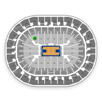 Oklahoma City Thunder at Chesapeake Energy Arena Section 113 View